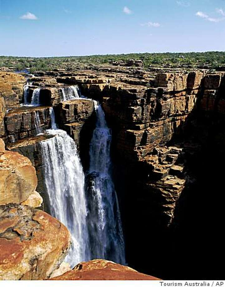 This undated photo released by Tourism Australia shows the Kimberley Waterfalls in Western Australia. (AP Photo/Tourism Australia) ** NO SALES ** Photo: Tourism Australia, AP