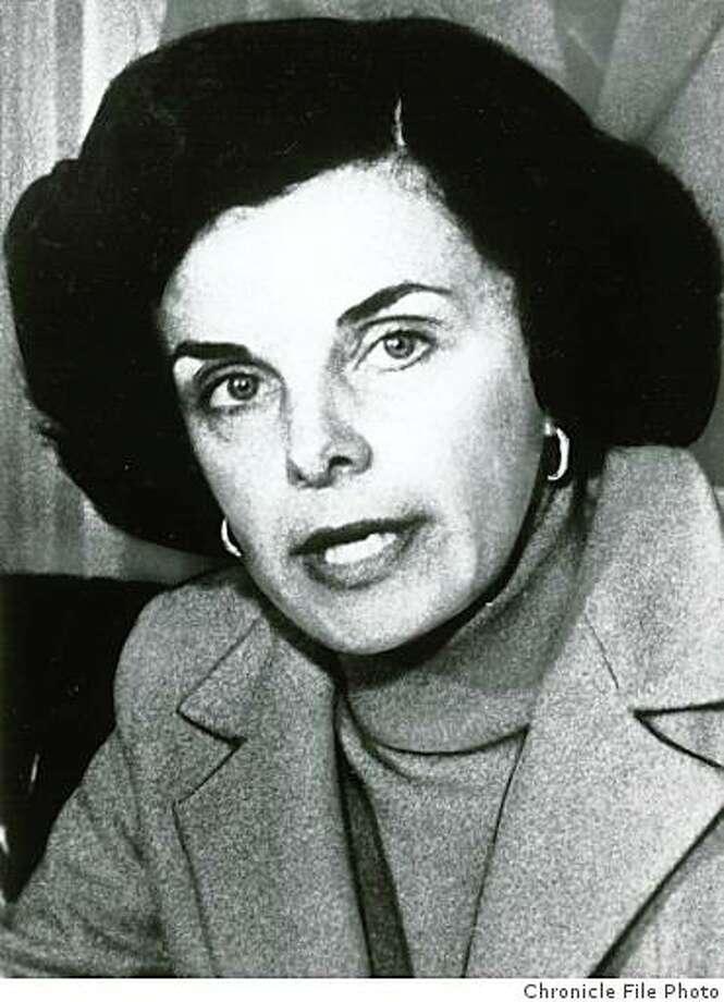 San Francisco Mayor Diane Feinstein in 1979. Photo: Chronicle File Photo