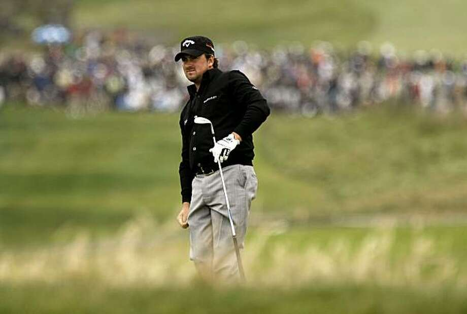 Graeme McDowell watches his approach to the sixth hole, which he birdied to put him at 4 under par at the U.S. Open at Pebble Beach on Friday. Photo: Michael Macor, The Chronicle