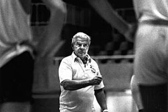 Pete Newell conducts the Big Mans Camp at Stanford University on August 25, 1986 at Stanford.