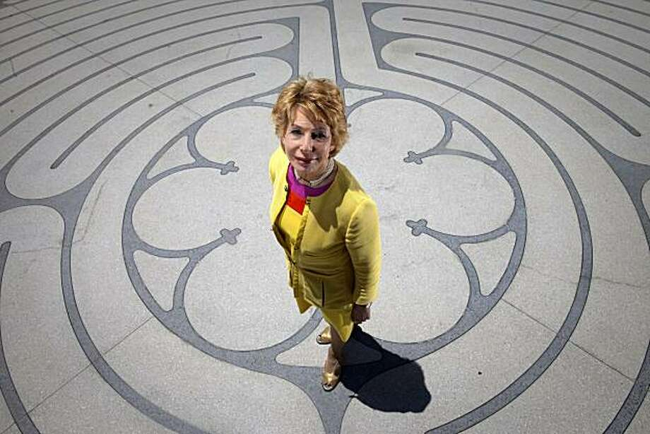 Author Gail Sheehy at the outdoor labyrinth of the Grace Cathedral on Nob Hill June 15, 2010 in San Francisco, Calif.  Photograph by David Paul Morris/Special to the Chronicle Photo: David Paul Morris, Special To The Chronicle