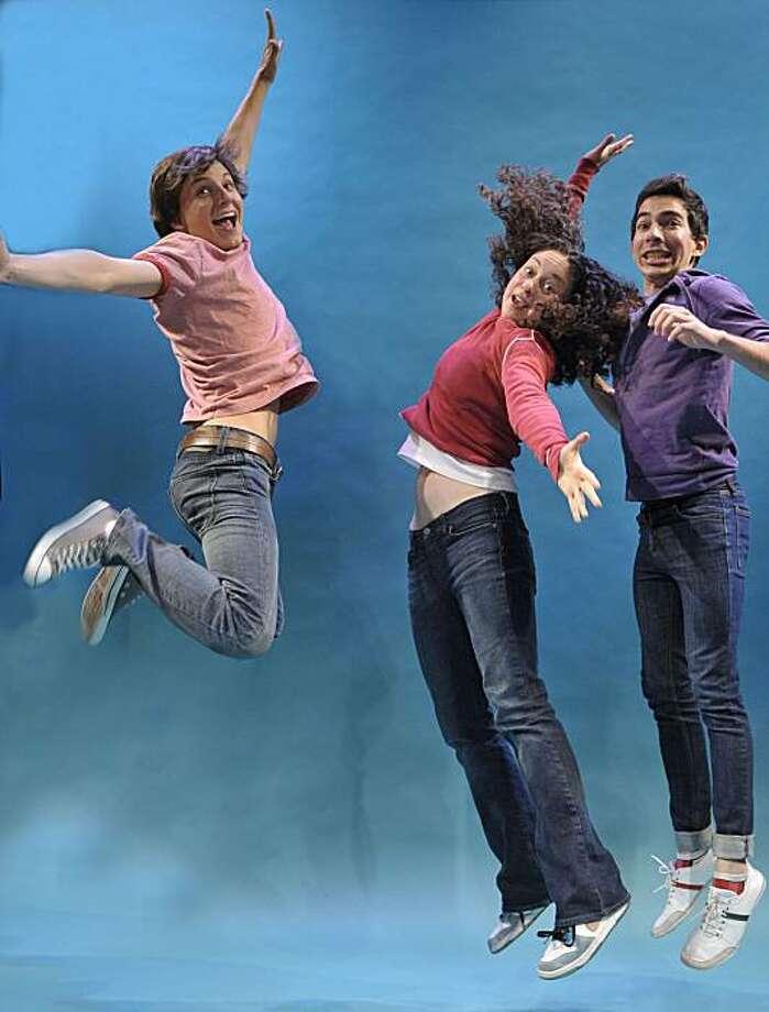 l-r, Solomon (Jason Frank), Diwata (Jayne Deely), and Howie (Maro Guevara) take a dance break in Speech & Debate, plying June 11-July 18 at te Aurora Theatre, $34-$55, 2081 Addison St., Berkeley. (510) 843-4822, www.auroratheatre.org. Photo: David Allen