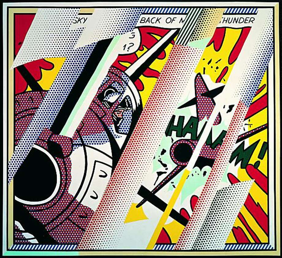 """""""Reflections: Whaam!"""" (1990) oil and magna on canvas by Roy Lichtenstein  70.25"""" x 76.5"""" Photo: Ian Reeves, S.F. Museum Of Modern Art"""