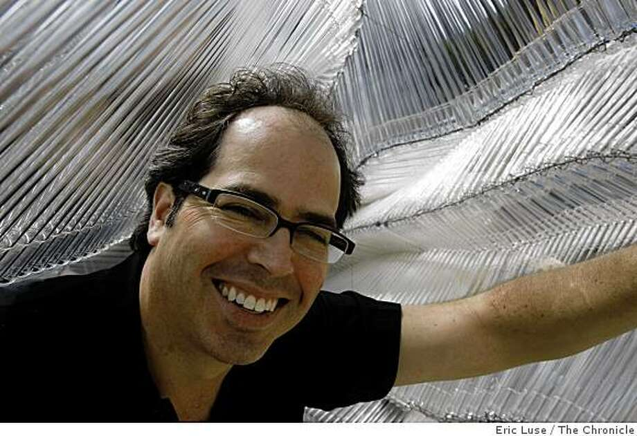 Nikolas Weinstein's inside a glass project in Singapore, from glass photographed in his San Francsico studio on Monday, November 10, 2008. Photo: Eric Luse, The Chronicle