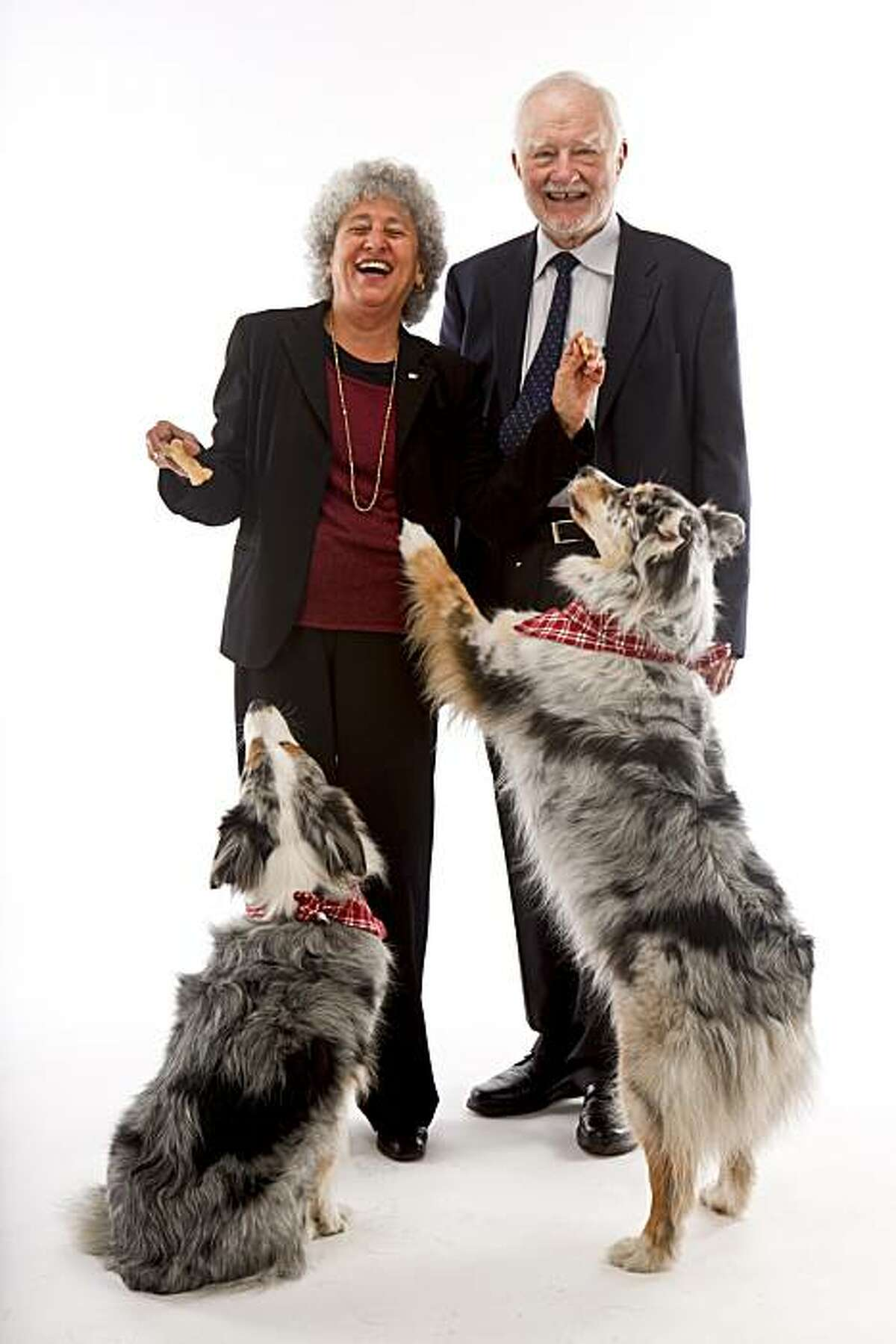 """Authors Marion Nestle and Malden Nesheim seen on Tuesday, May 18, 2010 in San Francisco, Calif. take on the pet food business with their book """"Feed Your Pet Right."""""""