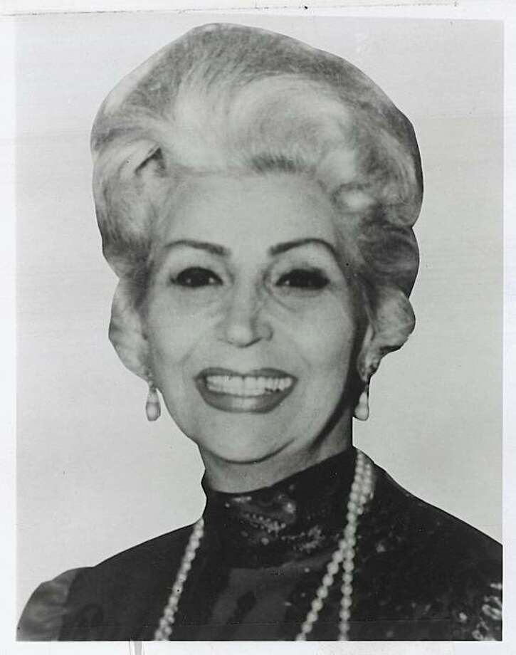Angelina Alioto, former wife of ex-SF Mayor Joseph Alioto, died Thursday at her home with her family at her side. She was 94. Photo: Unknown, The Chronicle