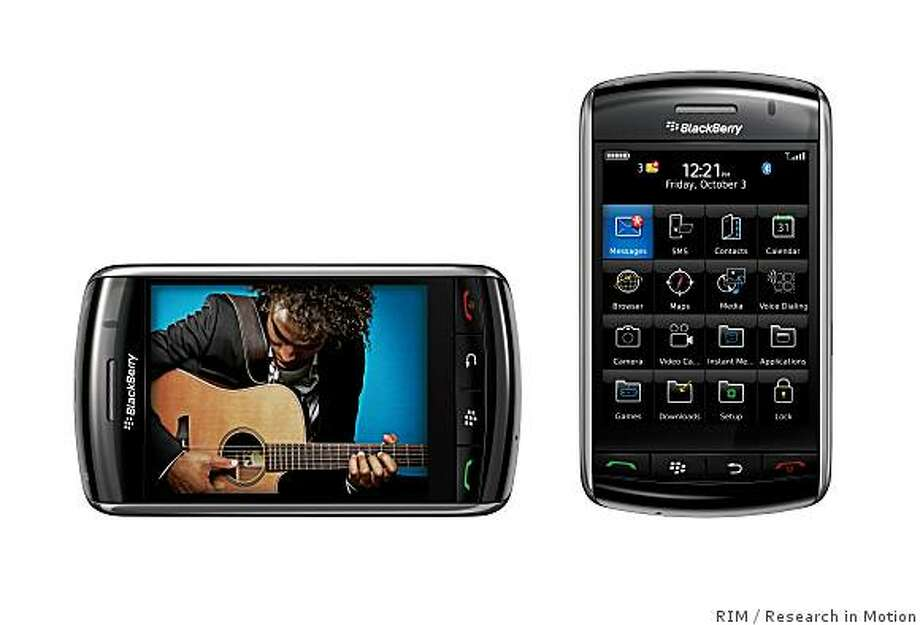 The BlackBerry Storm is RIM's new smart phone offering. Photo: RIM, Research In Motion
