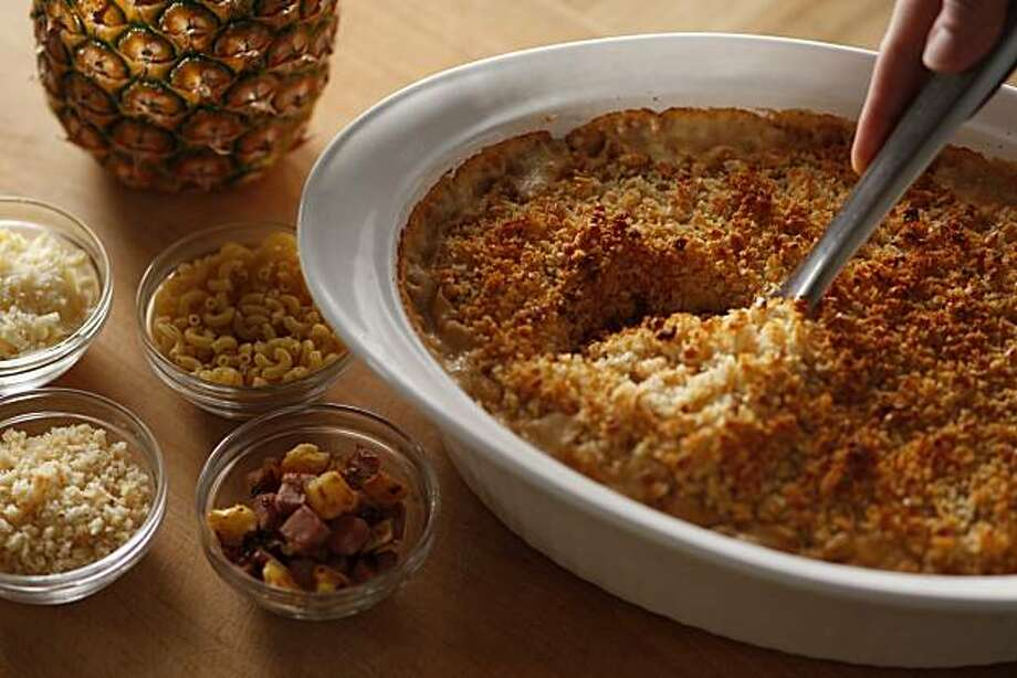Hawaiian Mac & Cheese in San Francisco, Calif., on April 7, 2010; styling by Sarah Fritsche. Photo: Craig Lee, Special To The Chronicle