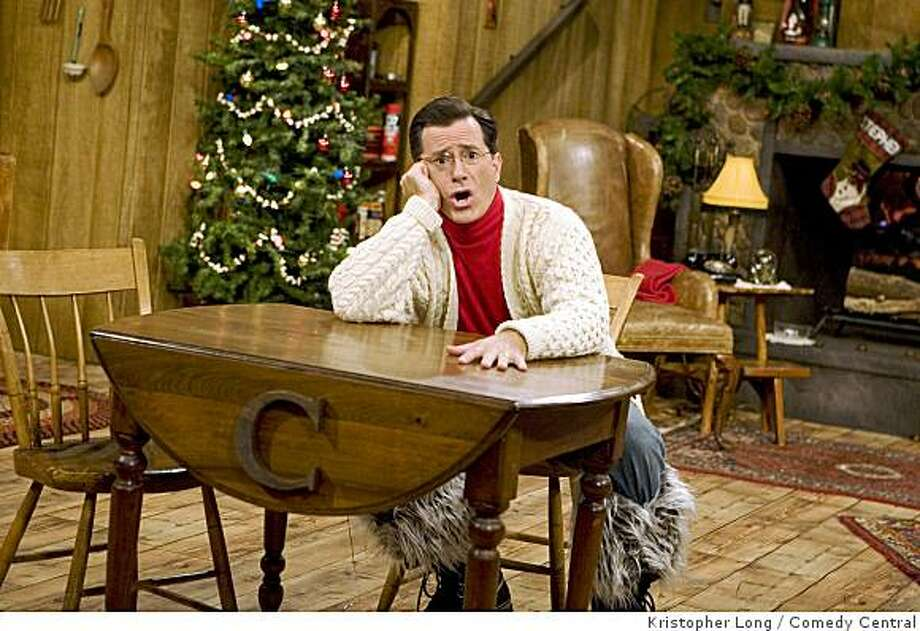 """Stephen Colbert, host of Comedy Central's """"The Colbert Report,"""" is shown during his one-hour musical holiday special, """"A Colbert Christmas: The Greatest Gift of All."""" Photo: Kristopher Long, Comedy Central"""