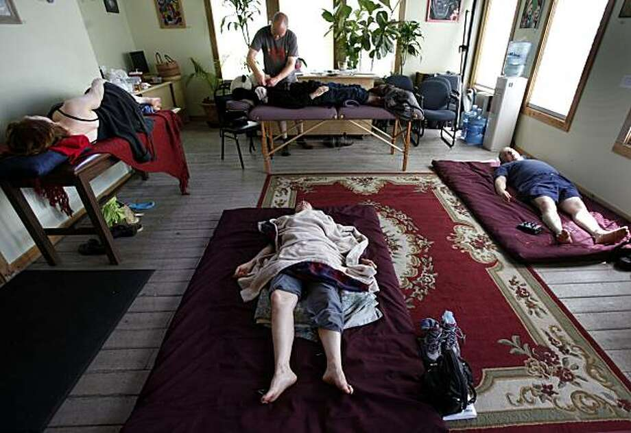 Massage and acupuncture are on the menu at the Peace in Medicine Healing Center June 1, 2010. Medical marijuana dispensaries in less populated areas of California like Sonoma County, Calif. are providing many of the services found in their big city counterparts. Photo: Brant Ward, The Chronicle