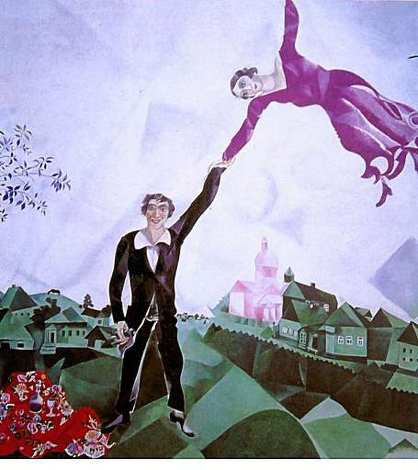 Marc Chagall, Promenade, 1917�18; oil on canvas; 66 7/8 x 64 3/8 in.; Collection The State Russian Museum, Saint Petersburg; � Artists Rights Society (ARS), New York/ADAGP, Paris ; on 7/7/03 in .