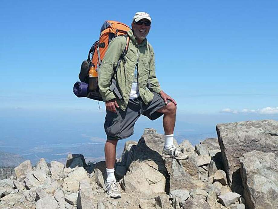 Jim Mrazek hiking the Tahoe Rim Trail last summer for Healthy Obsession Photo: Candy Wellins