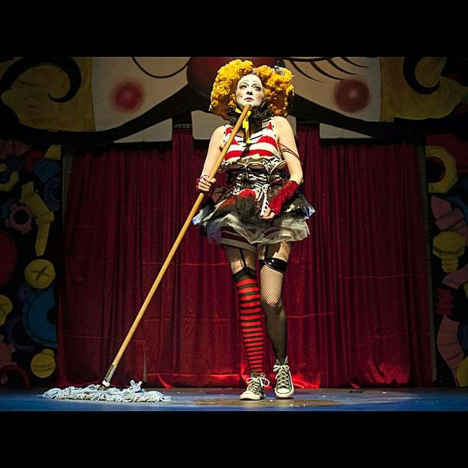 "Piffi Fou (Gerri Lawler) spoofing Susan Boyle in Fou Fou Ha's ""The Dynamite Show"" at Brava Theater Photo: Eric Gillet"