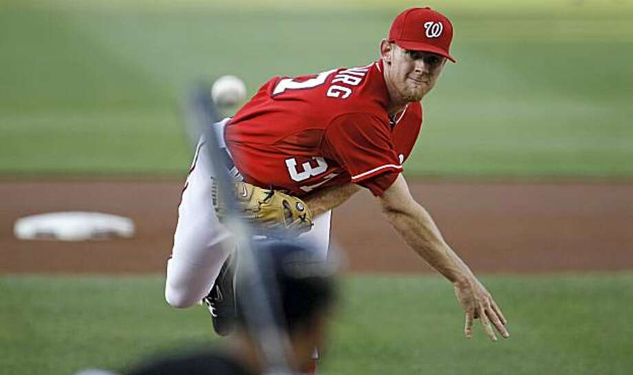 Washington Nationals starting pitcher Stephen Strasburg throws against the Chicago White Sox during the first inning of a baseball game, Friday, June 18, 2010, in Washington. Photo: Haraz N. Ghanbari, AP