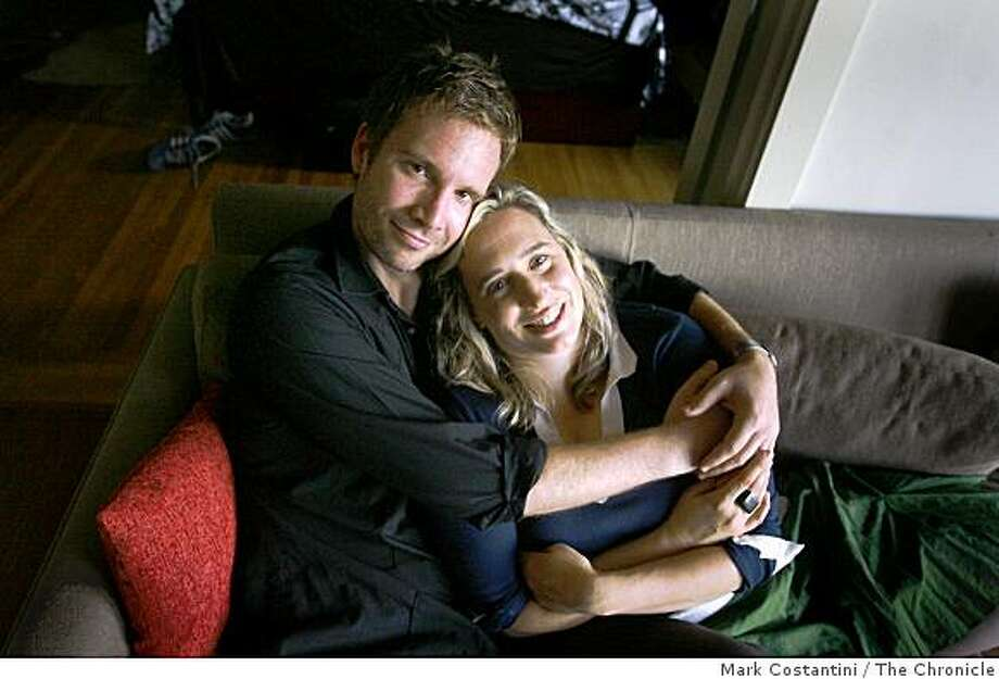 Michael Skrzypek, left, and Meredith Arthur pose in San Francisco, Calif. on Thursday, October 16, 2008 Photo: Mark Costantini, The Chronicle