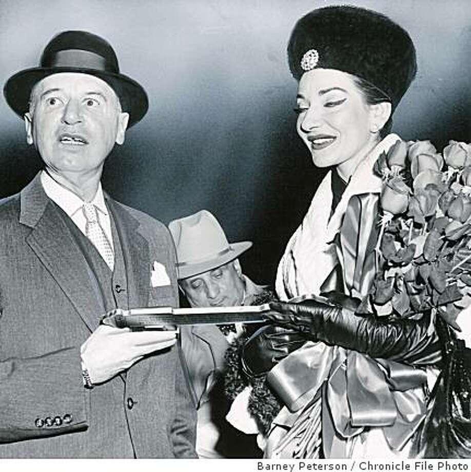 wayback16.jpg Joe Dyer and Maria Callas in 1958.Barney Peterson/Chronicle File Photo Photo: Barney Peterson, Chronicle File Photo