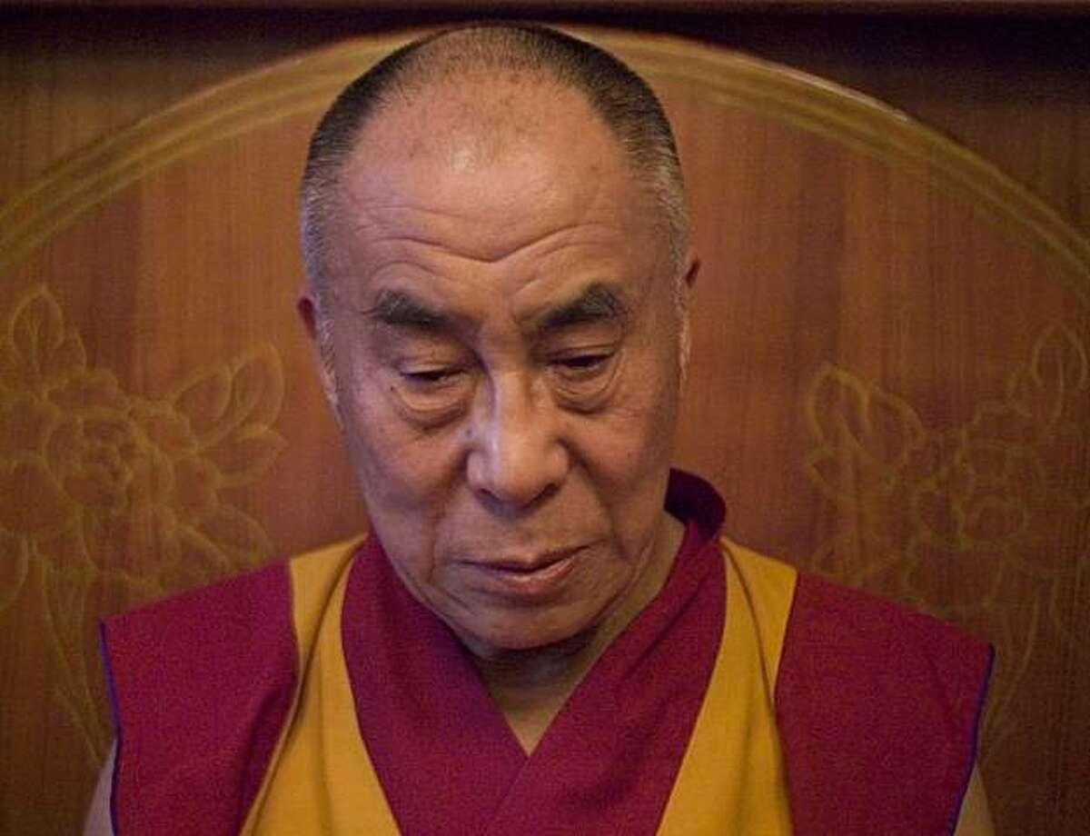The Dalai Lama in a scene from,