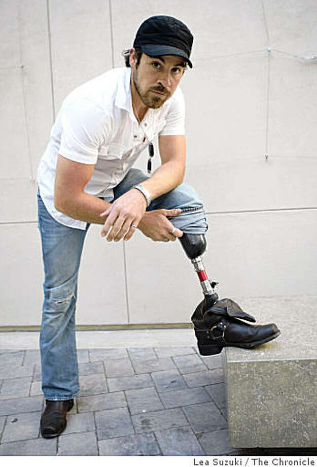 Actor Kurt Yaeger is photographed on Wednesday, October 22, 2008 in San Francisco, Calif. Kurt is an actor who sometimes gets roles because of his disability but he's also gotten roles without the director knowing he is an amputee. He lost his left leg in a motorcycle accident in 2006. Photo: Lea Suzuki, The Chronicle