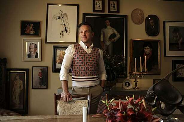 Interior designer Jay Jeffers stands in his dining room at his home in San Francisco, Calif. on Tuesday May 25, 2010.