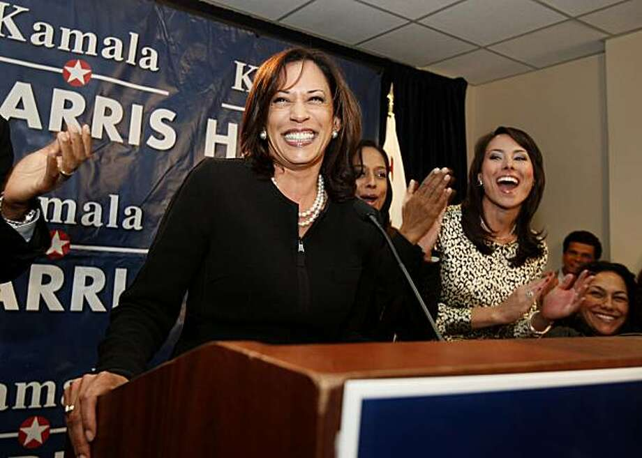 Kamala Harris accepted the Attorney General nomination. San Francisco District Attorney Kamala Harris appeared at her California Attorney General election night party at Delancey Street Tuesday June 8, 2010. Photo: Brant Ward, The Chronicle