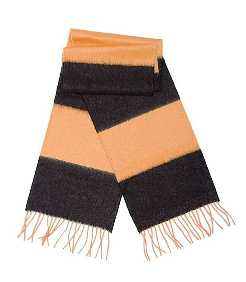 Savile Rogue's cashmere football scarves include the Hull City style, which sells for 38.95 pounds at www.savile-rogue.com. Photo: Savile Rogue