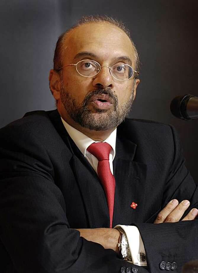 Piyush Gupta, chief executive officer of DBS Group Holdings Ltd., speaks during the company's results announcement, in Singapore, on Friday, May 7, 2010. DBS Group Holdings Ltd. has close to zero exposure to European debt, Gupta said. Photographer: MunshiAhmed/Bloomberg *** Local Caption *** Piyush Gupta Photo: Munshi Ahmed, Bloomberg News