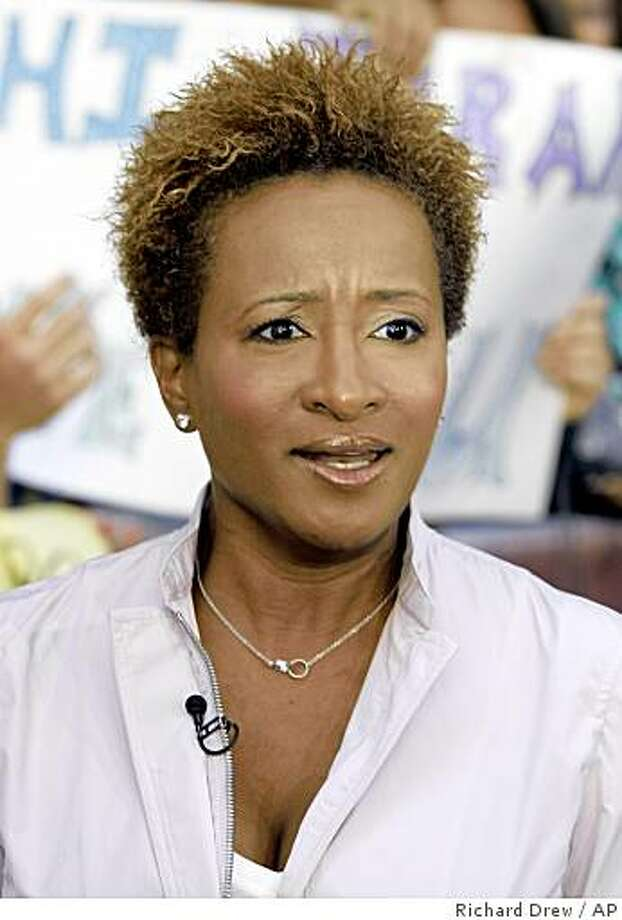 "** FILE **In this Thursday, June 21, 2007, file photo, comedian Wanda Sykes, who portrays a congressional aide in the movie ""Evan Almighty, "" appears on the NBC ""Today"" television program in New York's Rockefeller Center. Sykes says the passage of a same-sex marriage ban in California has led to her be more outspoken about being gay. (AP Photo/Richard Drew, File) Photo: Richard Drew, AP"