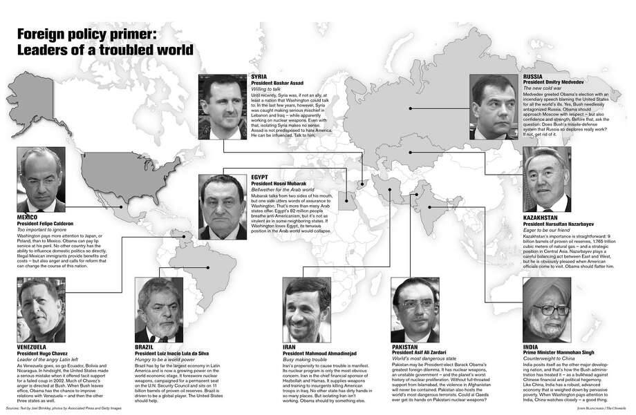 Leaders of a troubled world (John Blanchard / The Chronicle)