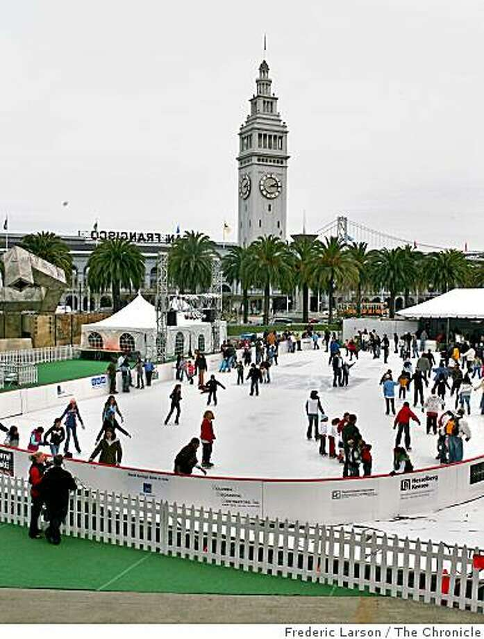 The Embarcadero Ice Rink opens this weekend. Photo: Frederic Larson, The Chronicle