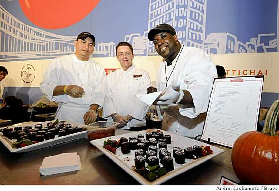"""""""Taste of the Five Boroughs"""" -- Bravo's """"Top Chef"""" and NYC & Company at Grand Central's Historic Vanderbilt Hall in New York on Monday October 27 -- Pictured: Michael Jordan's The Steakhouse N.Y.C. booth Photo: Andrei Jackamets, Bravo"""