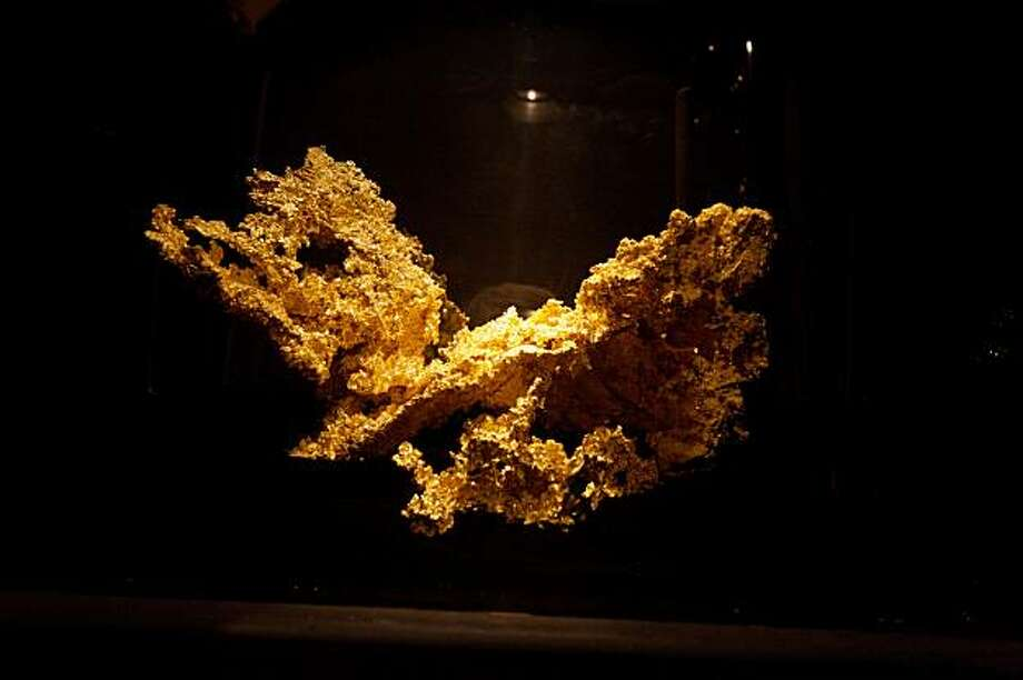 The Fricot Nugget, the largest crystalline gold nugget (13.8 pounds),  at the California State Mining and Mineral Museum in Mariposa, Calif. Photo: Thor Swift, Special To The Chronicle 2007