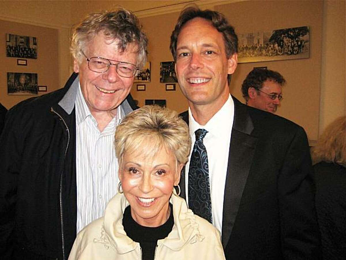 BBB Producer Jo Schuman Silver with Scholarship judges and composers Gordon Getty (left) and Jake Heggie. June 2010.