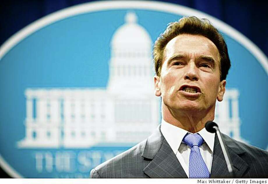California Governor Arnold Schwarzenegger calls state legislators to a special session to address budget concerns. Photo: Max Whittaker, Getty Images