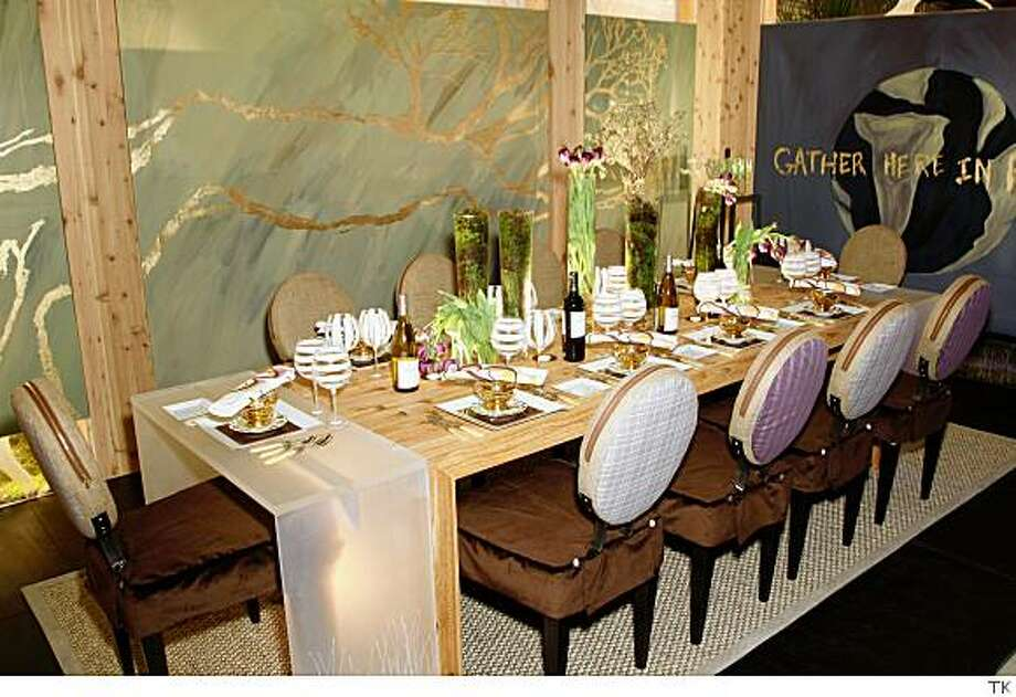 """Marc Blackwell's table, sponsored by Beringer for """"Dining By Design."""" Photo: TK"""