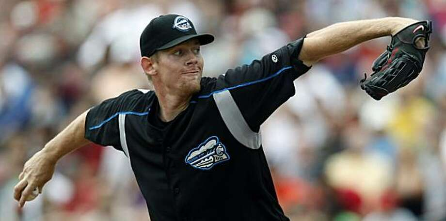Syracuse Chiefs pitcher Stephen Strasburg throws against the Buffalo Bisons during an AAA International league baseball game in Buffalo, N.Y., Thursday, June 3, 2010. (AP Photo/ David Duprey) Photo: David Duprey, ASSOCIATED PRESS