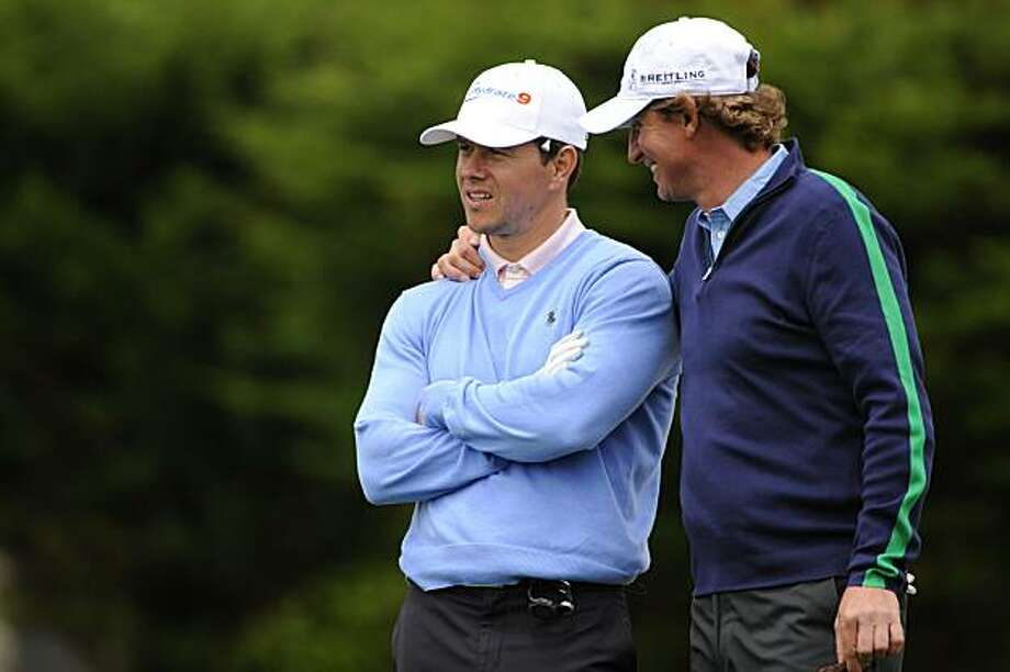 Mark Wahlberg and Wayne Gretzky during the Golf Digest U.S. Open Challenge at the Pebble Beach Golf Links on Wednesday June 9, 2010 in Pebble Beach, CA.  Mandatory credit:  J.D. Cuban/Golf Digest Photo: JD Cuban, Golf Digest