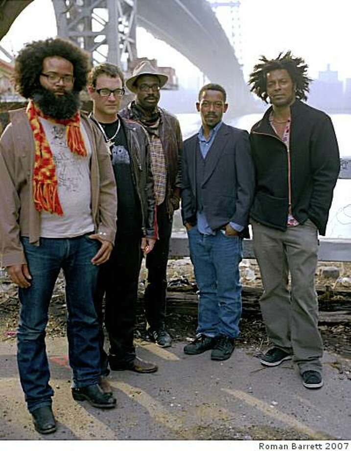 The band TV on the Radio (from left): Kyp Malone, David Sitek, Tunde Adebimpe, Gerard Smith and Jaleel Bunton Photo: Roman Barrett 2007
