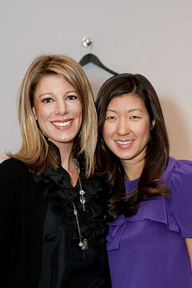 cq'd: Marisa Scordelis with Philanthropist co-founder Sally Fowler at a benefit for Dress for Success on April 20 at Philanthropist boutique in San Francisco. Photo: Laura Morton, Drew Altizer Photography