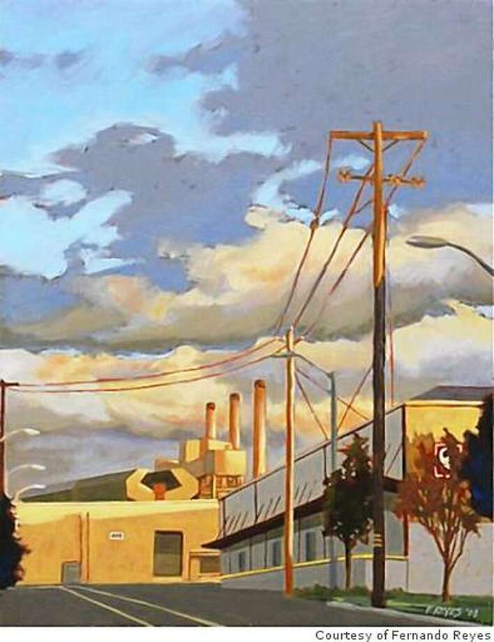 """Calm Before the Storm - White Elephant Sale,"""" a scene sure to delight aficionados of the Oakland Museum's annual extravaganza, is one of painter Fernando Reyes's works documenting his neighborhood, the Jingletown district. Photo: Courtesy Of Fernando Reyes"""