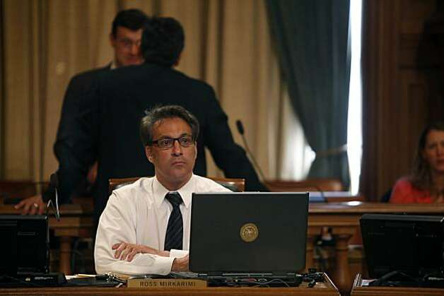 Supervisor Ross Mirkarimi looks at his computer during a San Francisco Board of Supervisors meeting at City Hall in San Francisco, Calif. on Tuesday May 4, 2010. Photo: Lea Suzuki, The Chronicle