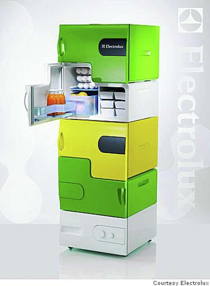 Stefan Buchberger from the University of Applied Arts, Vienna, won the Electrolux Design Lab 2008 competition for his Flatshare, a modular refrigerator, with individual compartments for those who live with roommates. Photo: Courtesy Electrolux