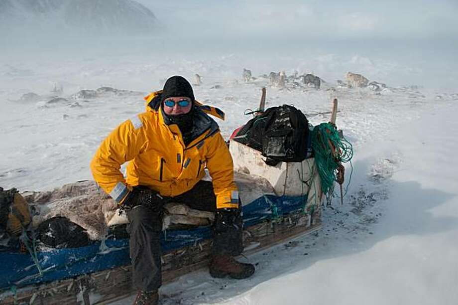 Uwe Haller after a storm between Qaanaaq and Siorapaluk. Photo: Courtesy Of Uwe Haller