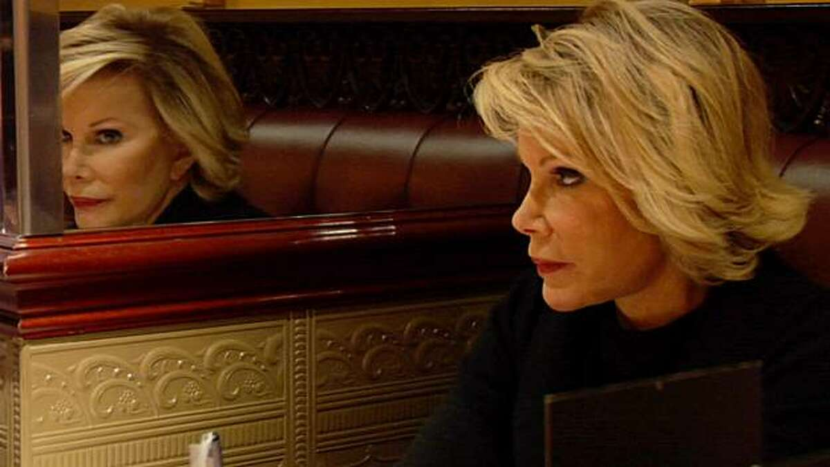 Joan Rivers in a reflective moment in JOAN RIVERS - A PIECE OF WORK directed by Ricki Stern and Annie Sundberg.