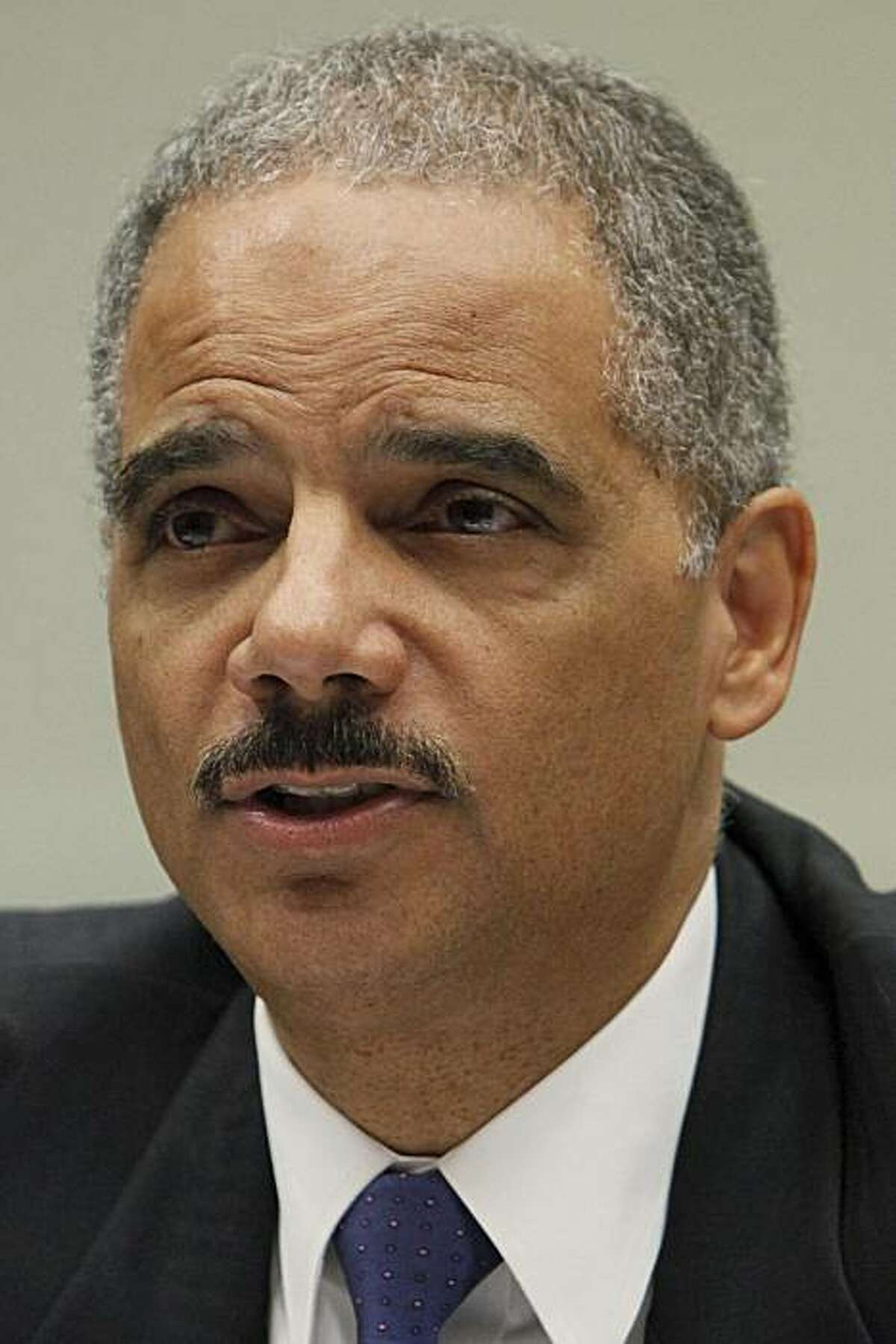 Attorney General Eric Holder in this May 13, 2010 photo on Capitol Hill in Washington.