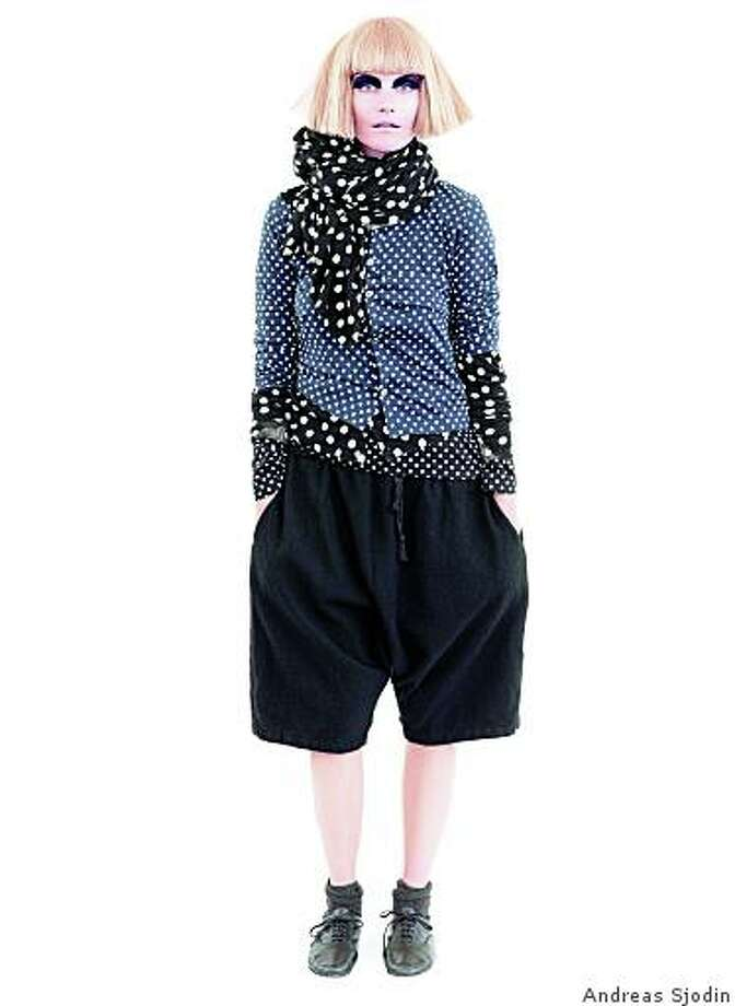 Comme des Garcon oufits for H&M like this one caused a shopping frenzy  on Powell St., in  Nov., 2008. Here,  small polka dot cardigan, $29,90; large polka dot cardigan, $69.90; long sleeve T-shirt, $24.90, pants, $49.90, and scarf, $59.90. Photo: Andreas Sjodin