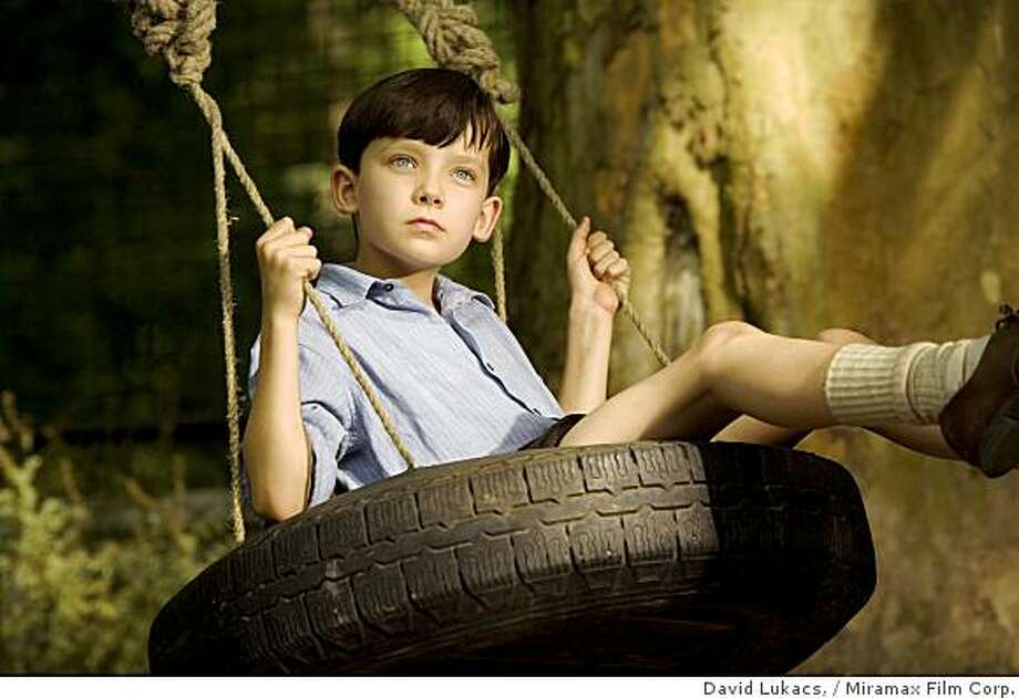"Asa Butterfield as Bruno in ""The Boy in Striped Pajamas."" Photo: David Lukacs,, Miramax Film Corp."