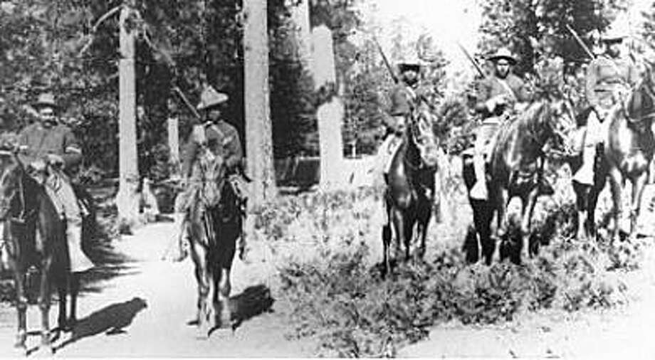 n this 1899 photo, Buffalo Soldiers in the 24th Infantry carried out mounted patrol duties in Yosemite. Photo: National Park Service