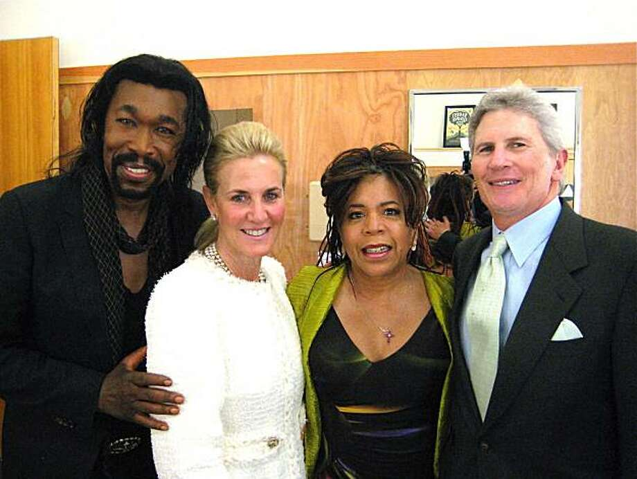 Nickolas Ashford (left) with Lisa Goldman, his wife, Valerie Simpson and Stern Grove Festival Board Chairman Doug Goldman at the Stern Grove Gala. June 2010. Photo: Catherine Bigelow, Special To The Chronicle