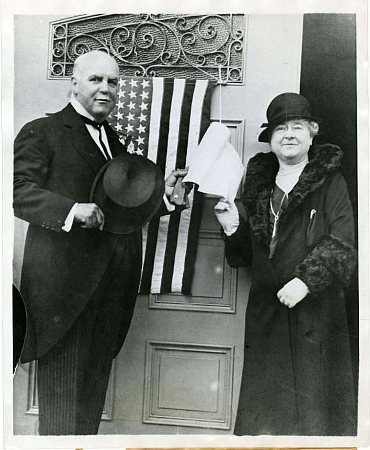 San Francisco Mayor James Rolph and his wife, Annie, vote in the election that made him governor of California in 1930. Photo: Handout