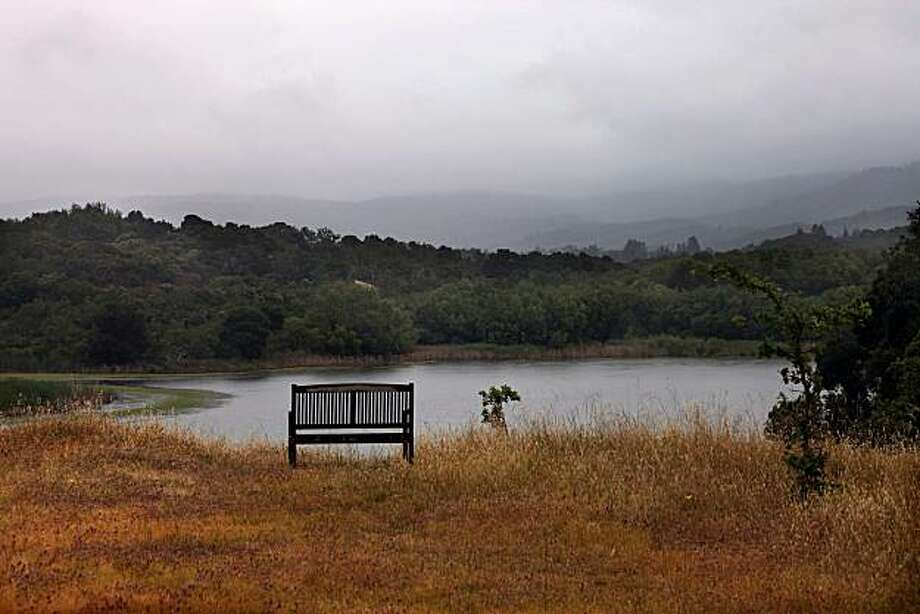 An overlook of Searsville reservoir at Jasper Ridge biological preserve in Portola Valley, Calif., on Monday, May 25, 2010. Photo: Liz Hafalia, The Chronicle